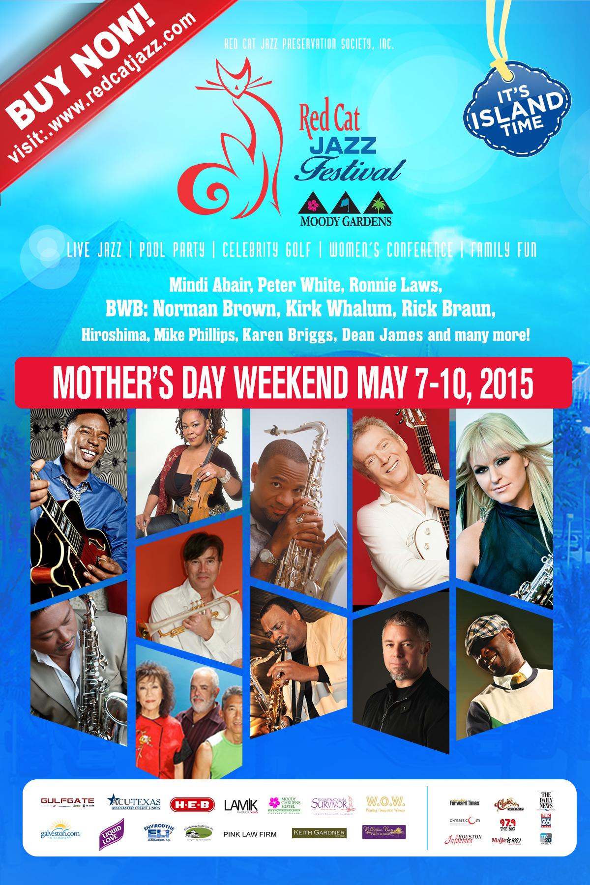 2015 Red Cat Jazz Festival at Moody Gardens - Houston